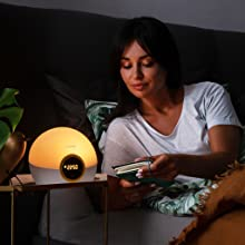lumie, bodyclock, rise, sunset, night, bedtime, reading, bedside, dimmable, dimmer