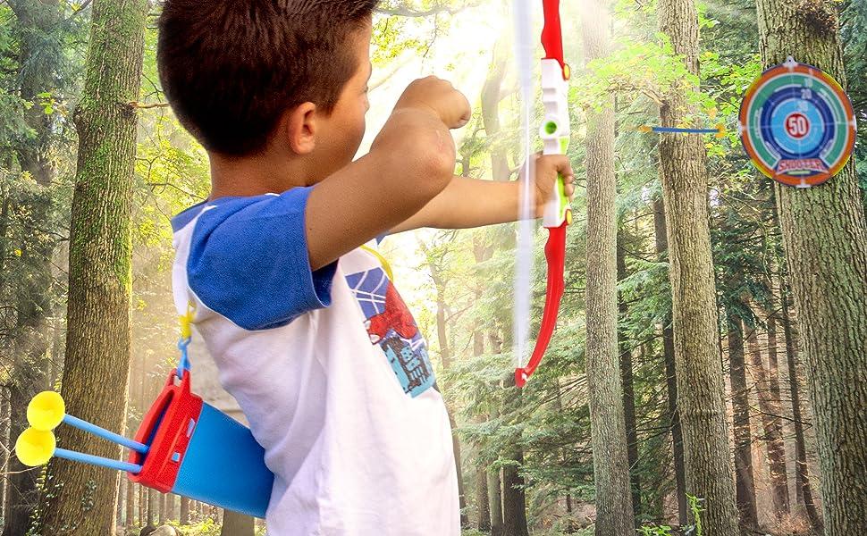 kid in woods play
