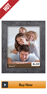 BOICHEN 8x10 grey wood rustic picture frames photo collage 4 pack wall farmhouse gray