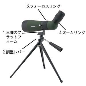 フィールドスコープ 野鳥観察 単眼望遠鏡 スポッティングスコープ 初心者用