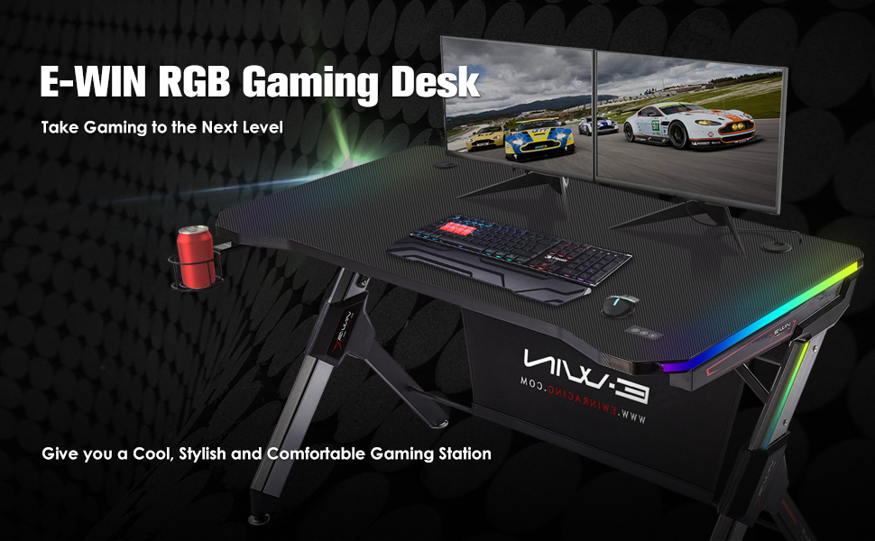 EWIN RGB Gaming Desk