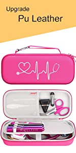 red stethoscope case