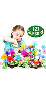 Flower Building Toy Set