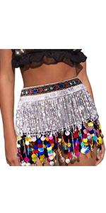Belly Dance Skirt Silver