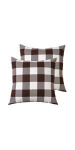 Plaid Cotton Pillow Covers