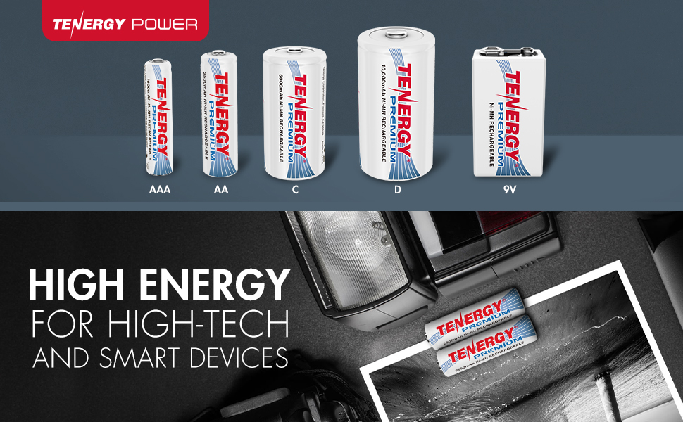 Tenergy premium rechargeable nimh batteries