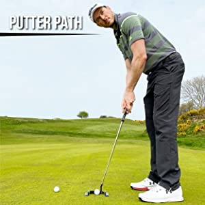 Putting alignment, golf tool, golf help, putt putt, putting matt, swing guide, golf clubs