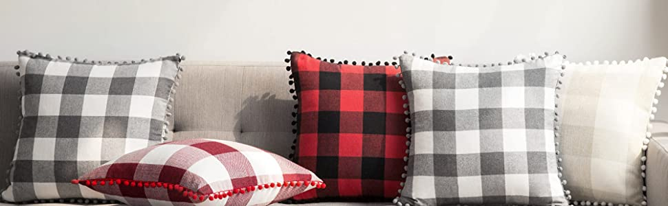 buffalo check pillow classic fall autumn decor