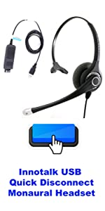 USB Superpro Single Speaker Headset