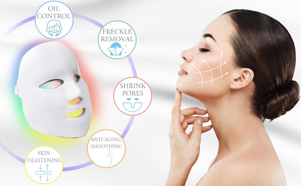 Led Face M/ásk 7 Color LED M/ásk for Face