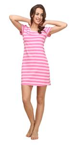 Woman striped pajamas