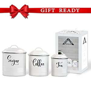 farmhouse kitchen decor canister sets for kitchen counter food storage pantry storage home decor