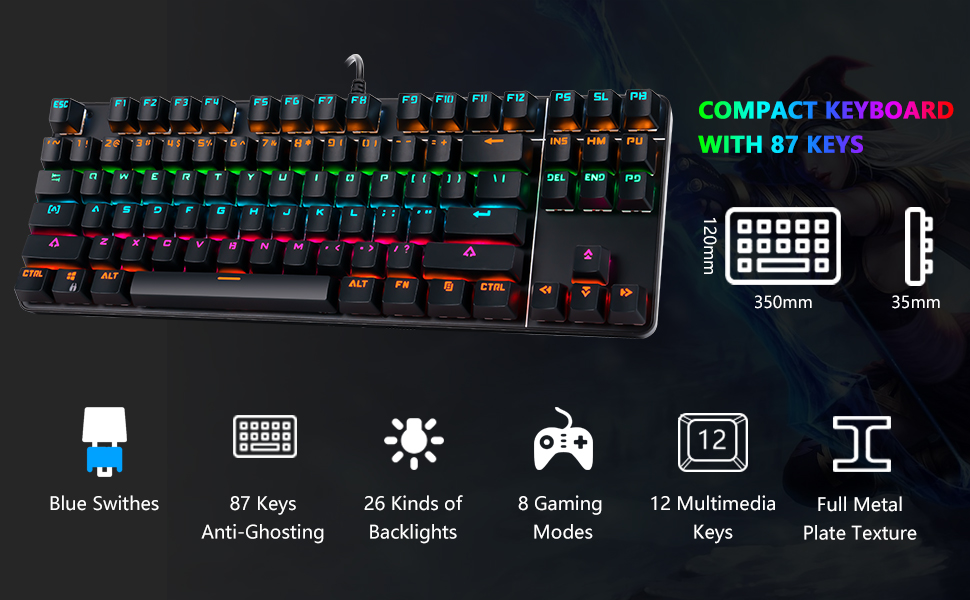 mechanical gaming keyboard and mouse