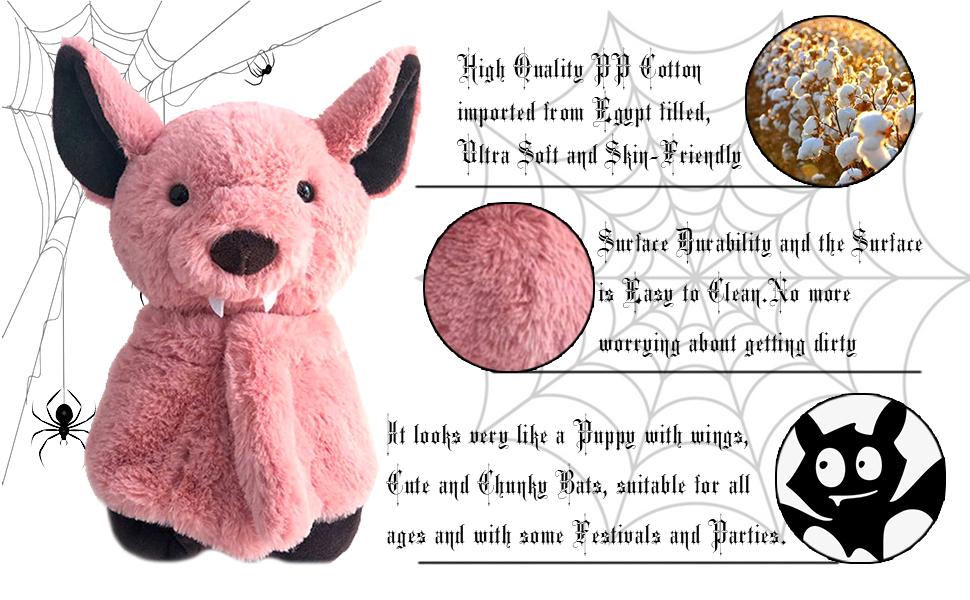 hanging soft bat plush toy stuffed animal halloween christmas birthday educational learning friends
