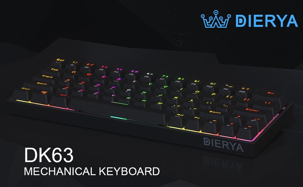 Teclado mecánico para juegos 60% True RGB con retroiluminación Bluetooth 4.0 Teclado de computadora con cable/inalámbrico LED para computadora ...