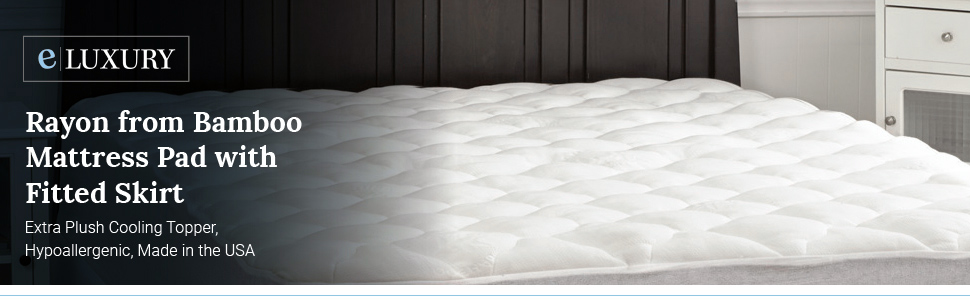 eluxury supply, bamboo mattress pad