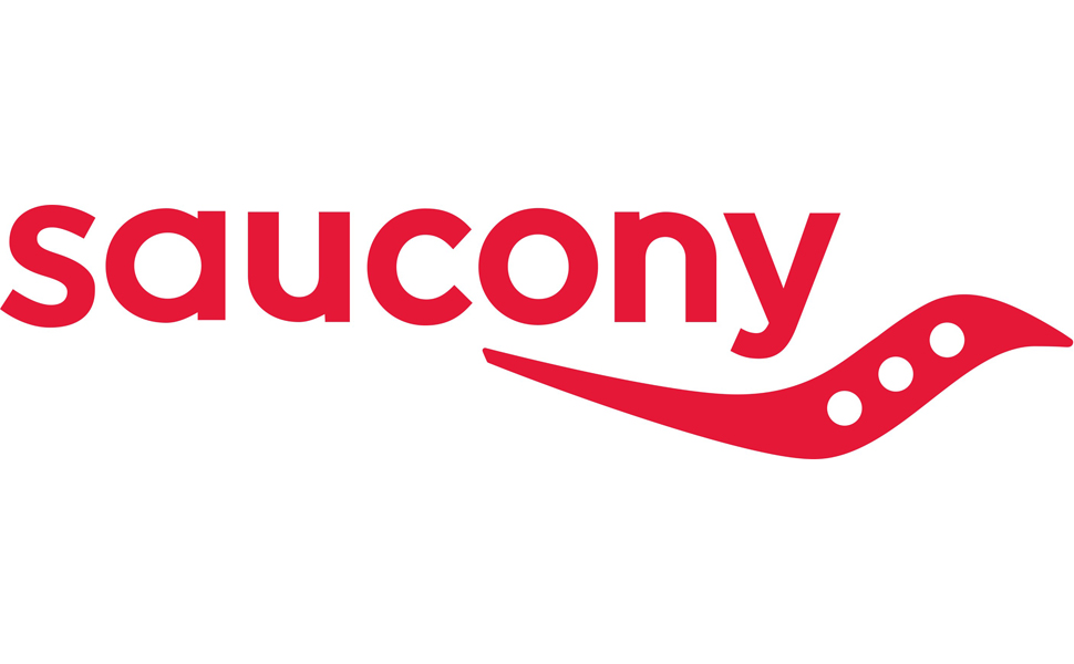 saucony logo in red