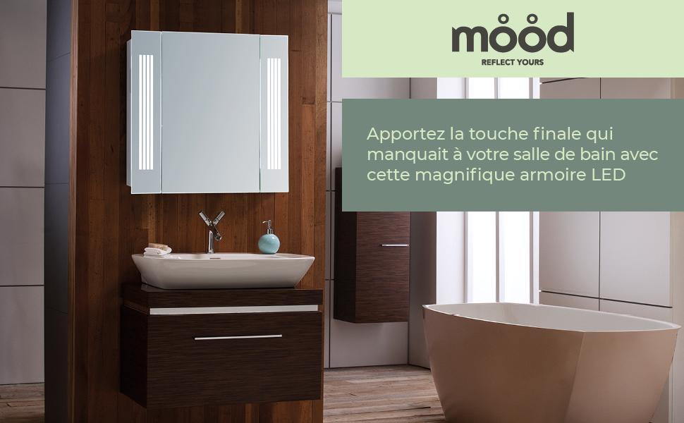 Bathroom Cabinet wall lights and shaver socket Mirror led sensor demister lights soft close