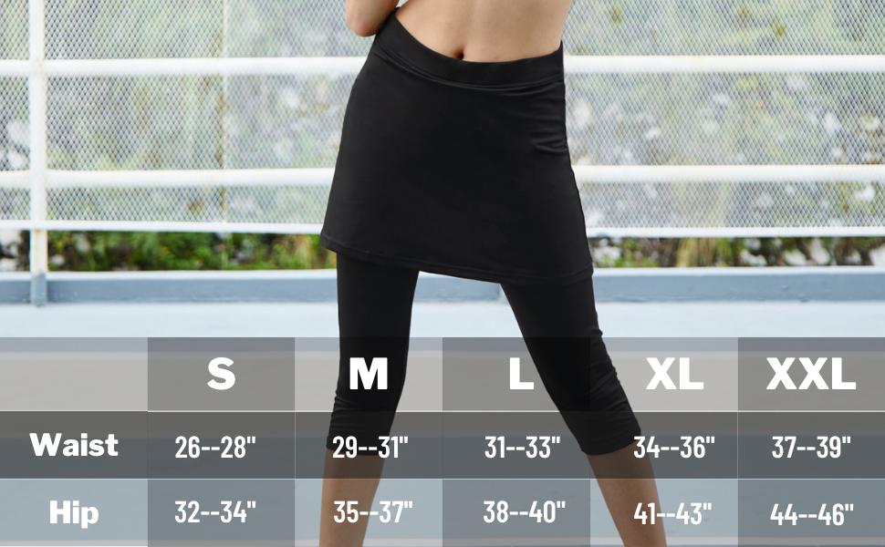 skirted leggings for women