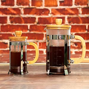 french press bamboo