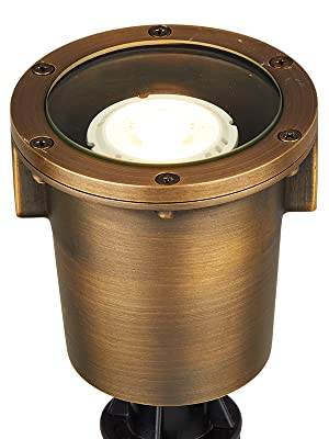 well light in-ground low voltage landscape lighting outdoor driveway uplight