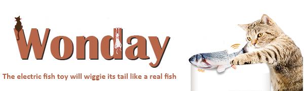 WONDAY electric fish cat toy