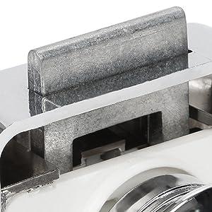 Slot sleutelsysteem glazen deur tot 5-8 mm kistsluiting spansluiting roestvrij staal kistsluiting