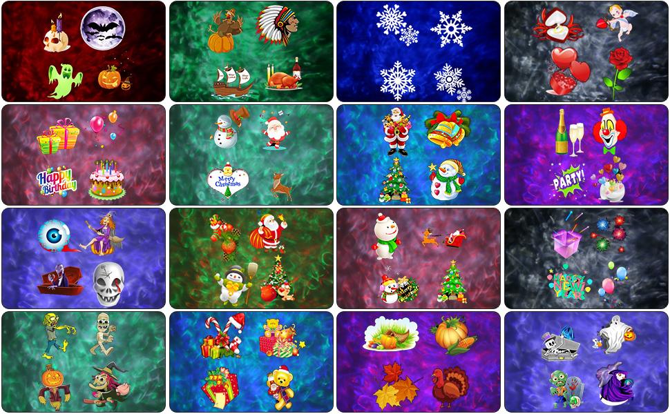 Luces de Proyector Navidad, ALED LIGHT Impermeable Exterior ...