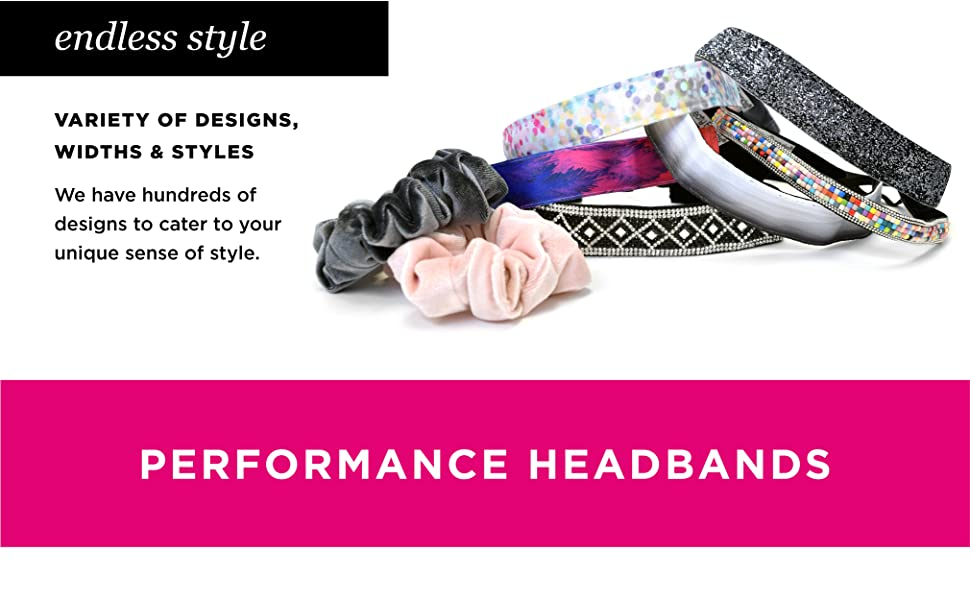 Sweaty Bands Womens and Girl Headband - Non-Slip Velvet-Lined Stylish Hairband