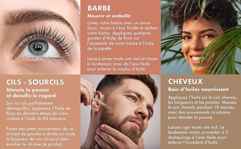 roll on acnee visage hair sourcil cuticules massage barb'art pousser cicatrice flacon mascarra