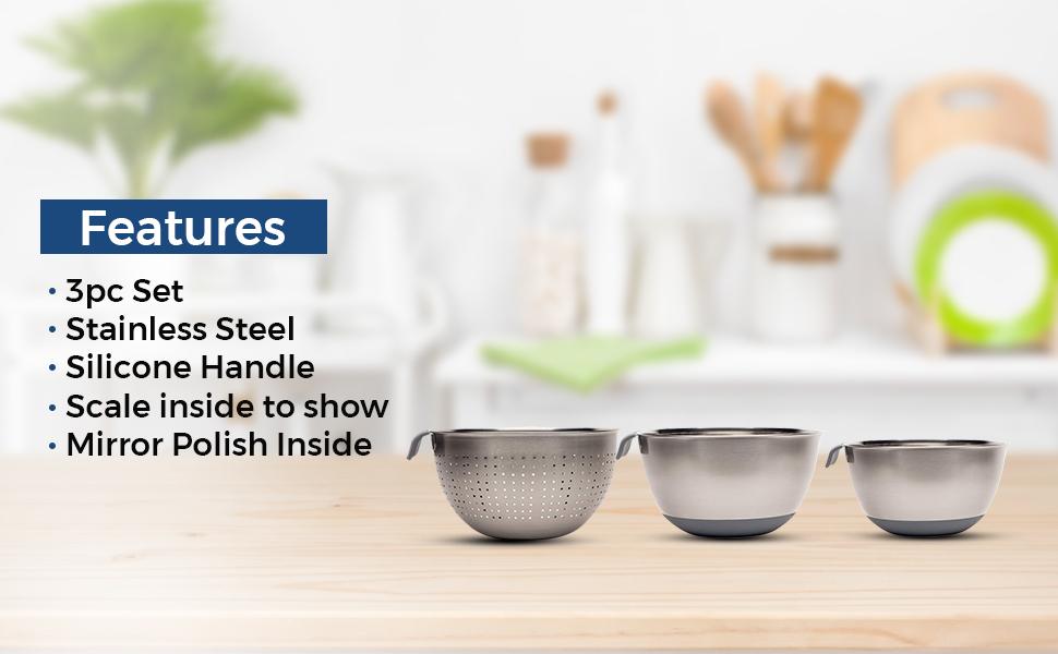 mixing bowl strainer set
