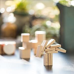 引っ張ると 立ち上がる 不思議な 積み木 DOMIGO mini 知育玩具 日本製 プレゼント 脳トレ ドミノ ドミノ倒し ブロック パズル 木製 木製玩具 おもちゃ バランスゲーム 日本製 ゲーム