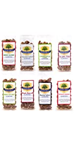 1.5 oz 8-pack variety artisan roasted bold flavored seasoned single serve savory spicy snack almonds