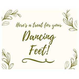 Here's a treat for your dancing feet wedding reception sign for guests flip flops sandals bulk