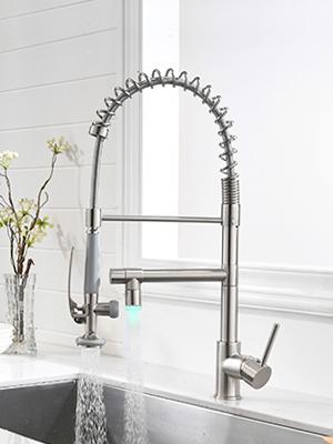 2 spout kitchen faucet