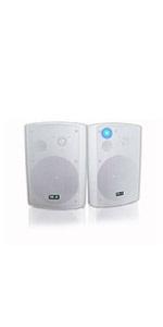 wireless outdoor speakers white