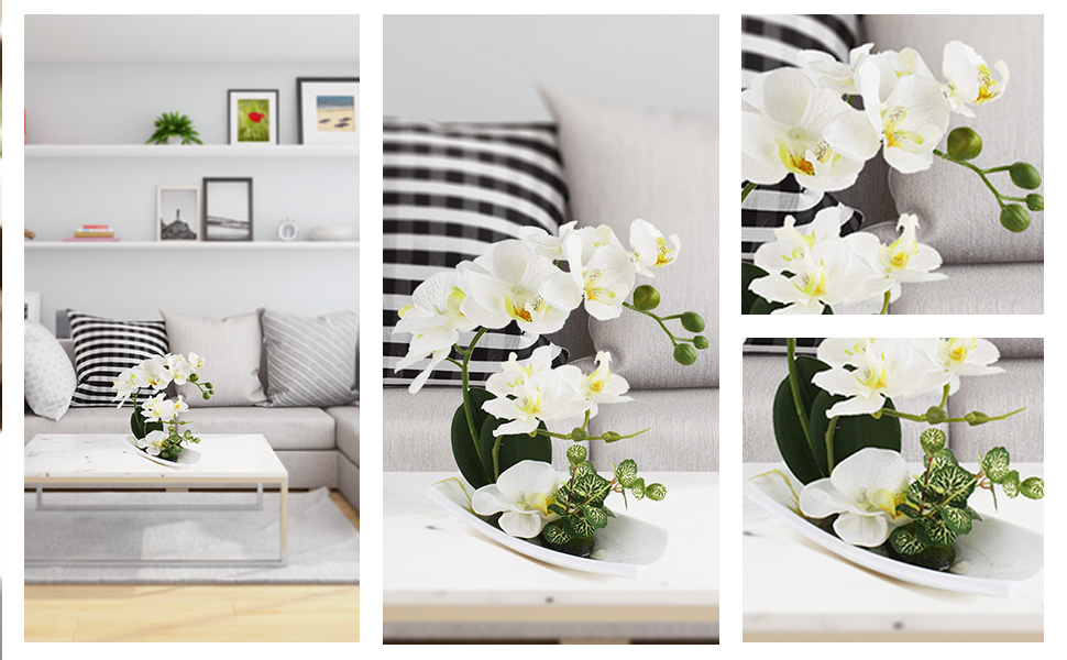 sztuczne rośliny sztuczne kwiaty i wazon sztuczne rośliny wewnątrz
