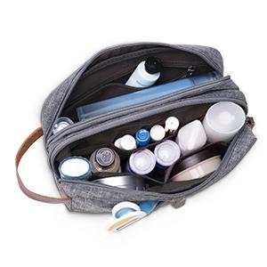 Toiletry Bag Small Nylon Dopp Kit Lightweight Shaving Bag for Kids Men and Women