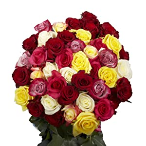 assorted roses, flower delivery