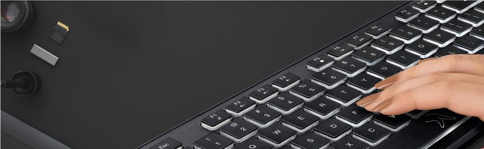 Fingers typed on FINGERS Magnifico MoonLit Keyboard Keys