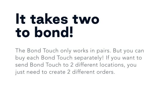 bond touch works in pairs