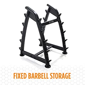 Power Systems Straight Handle Pro Style Fixed Barbell