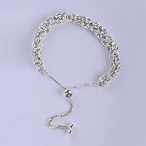 Sterling Silver Bolo Bracelet