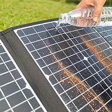 120 Watt Foldable Solar Panel Battery Charger Kit for Portable Generator