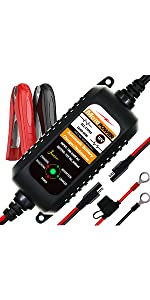 motopower battery charger maintainer motorcycle battery charger float charger