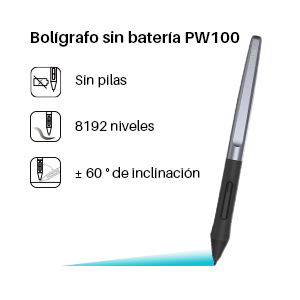 lápiz sin batería