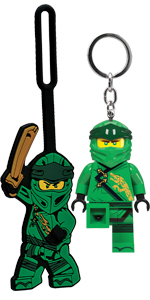 LEGO Ninjago Legacy Lloyd Key Light Luggage Bag Tag Duo