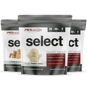 mass gainer select smart mass clean protein meal replacement shake high carb whey casein milk