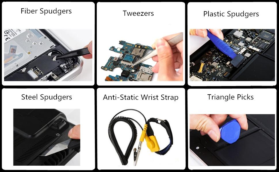 Spudgers Tweezers Wrist Strap Triangle Picks
