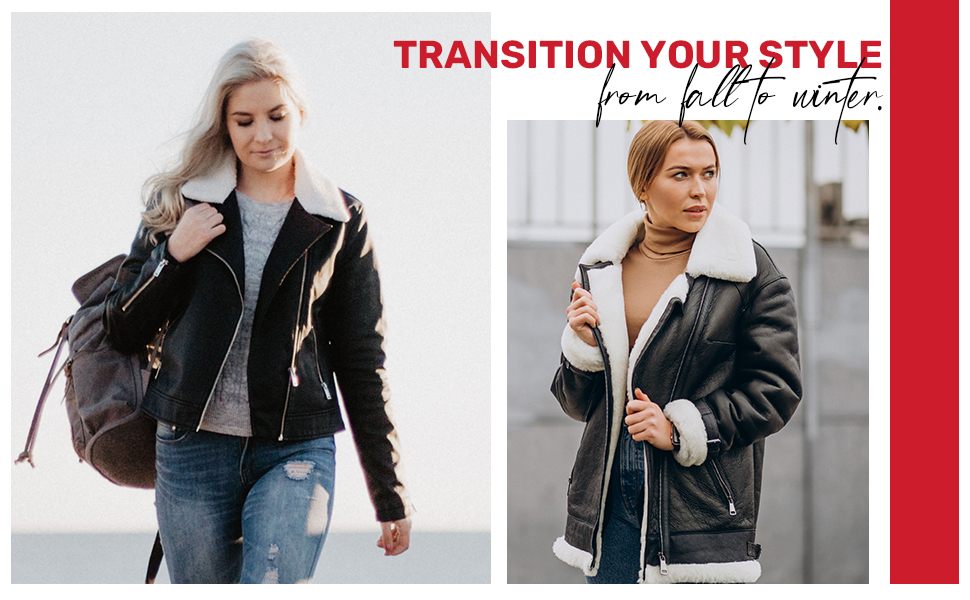 Transition your style from fall to winter.